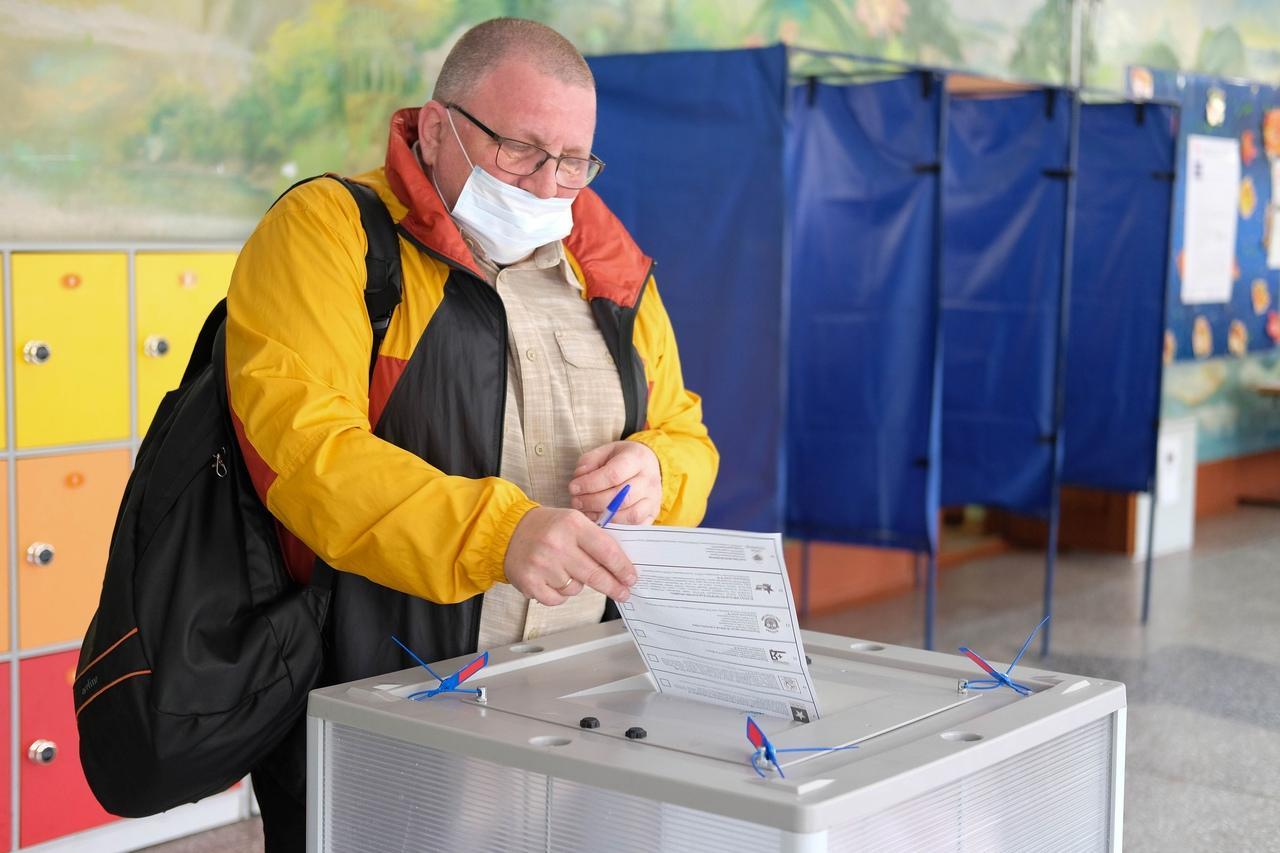 Фото Выборы в Госдуму РФ – 2021 в Новосибирске – лучшие фото 11